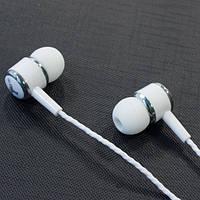 Гарнитура BSBESTE Q7 (Белый) вакуумные наушники с микрофоном для айфона самсунга iphone samsung
