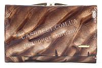 Компактный стильный прочный кожаный качественный женский кошелек SALFEITE art. 2103-D44 коричневый
