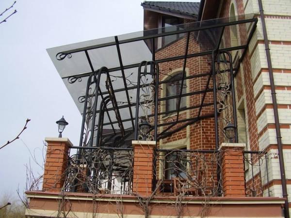 Навесы из монолитного поликарбоната в Запорожье, фото 2