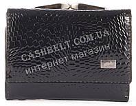 Компактный стильный прочный кожаный качественный женский кошелек LE PELICAN art. LE2190-A35 черный лак, фото 1