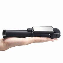 Селфи палка Z 07 5 S с кнопкой телескопическая  жесткий кабель желобок 3.5 металл для Samsung Xiaomi (Черный), фото 3