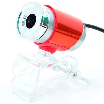 Веб камера для Пк WC 890 вебка для скайпа usb юсб 2.0 skype (Красный), фото 2
