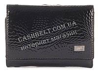 Компактный стильный прочный кожаный качественный женский кошелек LE PELICAN art. LE2239-A35 черный лак