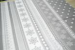 """Новогодняя ткань """"Снежинки с сердечками"""" светло-серого цвета № 454, фото 3"""
