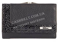 Компактный стильный прочный кожаный качественный женский кошелек COSCET art. CS964-02A черный