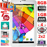 Телефон Планшет Навигатор Samsung Tab 7 HD 1024 х 600 OЗУ 1 Гб Flash 8 Гб 2 сим Андроид 4.4 GPS 3G 3000 mAh