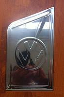 Накладка на люк бензобака с лого VW (Carmos, нерж) - Volkswagen T5 Transporter (2003-2010)