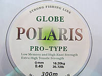 Спиннинговая рыбалка-леска 300м Globe Polaris