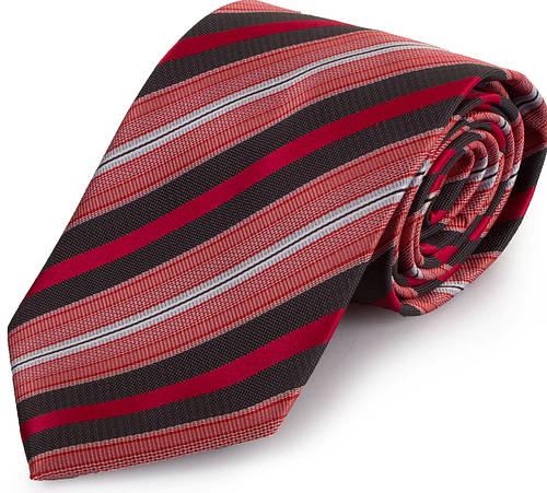 Удивительный мужской широкий галстук SCHONAU & HOUCKEN (ШЕНАУ & ХОЙКЕН) FAREPS-68 красный