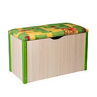 """Пуф """"Балу"""" ящик для игрушек зелёный"""