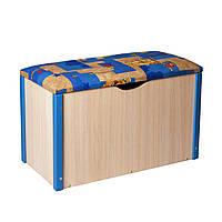 """Пуф """"Балу"""" ящик для игрушек синий"""