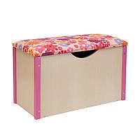 """Пуф """"Балу"""" ящик для игрушек розовый"""