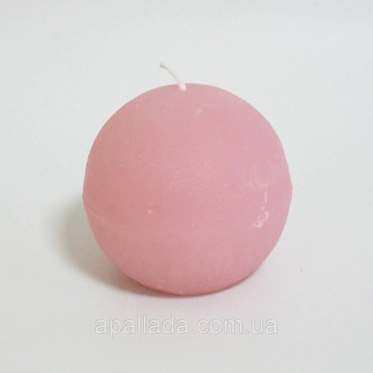 Свеча в форме шара 7 см, цвет - персиковый