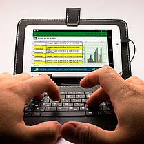 """Чехол подставка с клавиатурой 9 """" (Черный) русский язык micro usb для планшета Xiaomi Lenovo Samsung, фото 2"""