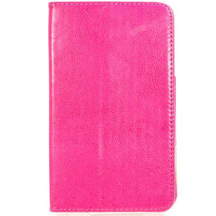 Чехол книжка 7 дюймов Samsung универсальный для планшета (Розовый), фото 2