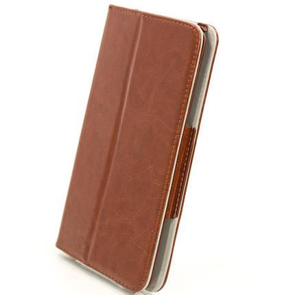 Чехол книжка 7 дюймов Samsung универсальный для планшета (Коричневый), фото 2