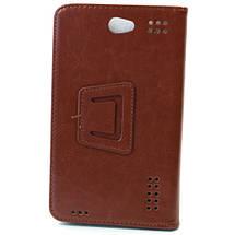Чехол книжка 7 дюймов Samsung универсальный для планшета (Коричневый), фото 3