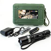Фонарь ручной светодиодный SoBright F003 7 (Черный) походный тактический аккумуляторный противоударный, фото 3