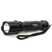 Фонарь ручной CREE XPE L071 (Черный) светодиодный тактический противоударный влагостойкий с аккумулятором, фото 2