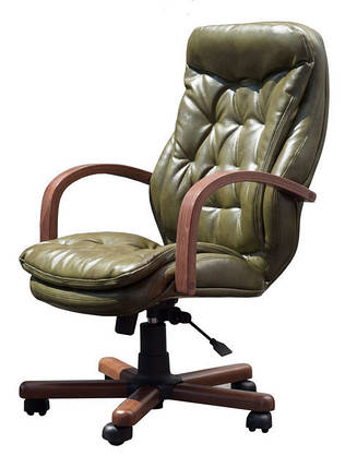 Кресло Венеция Вуд Орех, Мадрас Оливка (Richman ТМ) , фото 2