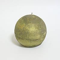 Свеча в форме шара 7см, цвет  - золото