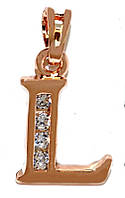 Кулоны фирмы Xuping, позолота с красным оттенком.Камень: белые фианиты. Высота кулона: 2 см. Ширина: 10 мм.