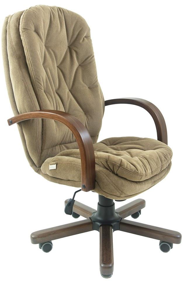 Кресло Венеция Вуд Орех механизм Мультиблок, ткань Мисти Mocco (Richman ТМ)