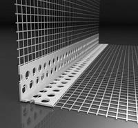 Уголок перфорированный алюминиевый со стеклосеткой 2,5 м 7*7