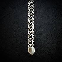 Cеребряный мужской браслет, 220мм, 26 грамм, плетение Бисмарк, фото 2