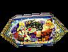 """Упаковка новогодняя """"Цукерка Жовто-Блакитна"""" для сладостей 150-200г"""