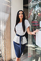 Женский костюм с юбкой Цвета Батал 120 ЗЛ, фото 1