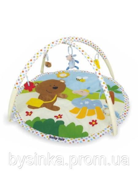 """Развивающий коврик Baby Mix """"Винни"""" 3220С с дугами и подвесными игрушками"""