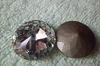 Стразы кабошоны для интерьера ,  Размер 20 мм , Цвет Серебро