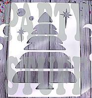 Новогодние трафареты  7 шт микс
