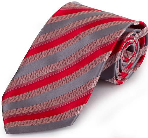 Актуальный мужской широкий галстук SCHONAU & HOUCKEN (ШЕНАУ & ХОЙКЕН) FAREPS-69 красный