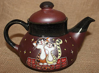 """Чайник керамический """"Коты на крыше"""""""