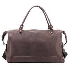 Шкіряна сумка дорожня велика З-4 коричнева
