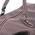 Кожаная сумка дорожная большая С-4 коричневая, фото 7