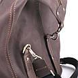 Кожаная сумка дорожная большая С-4 коричневая, фото 9
