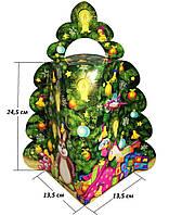 """Картонная упаковка """"Ялинка велика"""" 1500г ОПТ от 500шт для сладостей и подарков"""