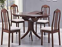 Раскладной обеденный деревянный стол Halmar Leroy античная черешня