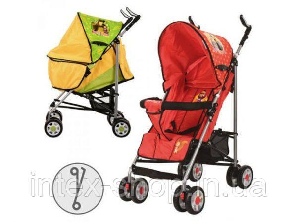 Детская коляска-трость BAMBI MM 0065-2 G (Зеленый) Маша и Медведь