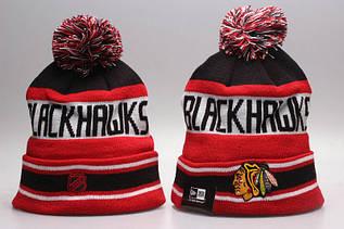 Шапка зимняя Chicago Blackhawks / SPK-276 (Реплика)