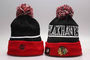 Шапка зимняя Chicago Blackhawks / SPK-277 (Реплика)
