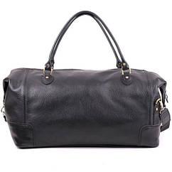 Кожаная дорожная сумка большая С-2 черная