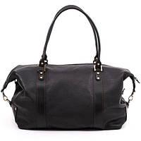 Кожаная дорожная сумка саквояж С1 черный