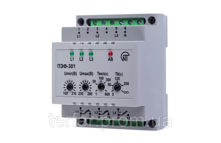 Электронный переключатель фаз ПЭФ-301 Новатек Электро