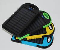 Внешний аккумулятор портативное зарядное устройство Solar Power Bank 10400 mAh с солнечной батареей 2 USB