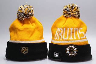 Шапка зимняя Boston Bruins / SPK-287 (Реплика)