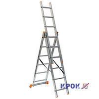 Лестница-стремянка 3х6 КРОК, алюминиевая, фото 1